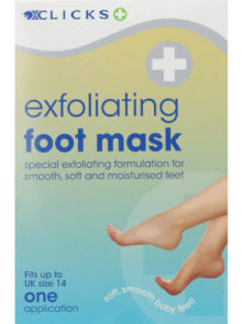 clicks exfoliating foot mask