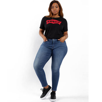 plus-size high waist jeans