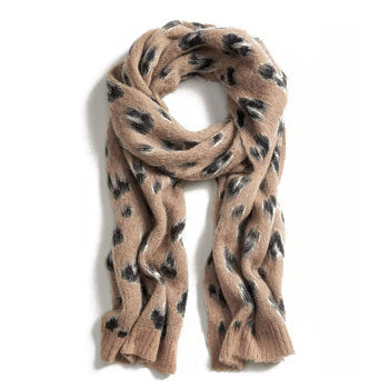 printed knit scarf