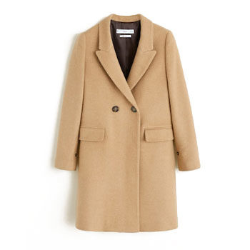 structured coat to wear over a leather jacket