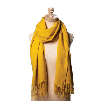 yellow wollen scarf
