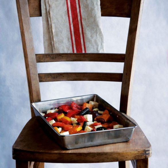 Roasted Vegetables with Honey and Feta Cheese Recipe