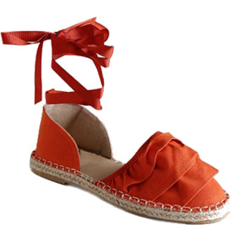 orange espadrille tie ups