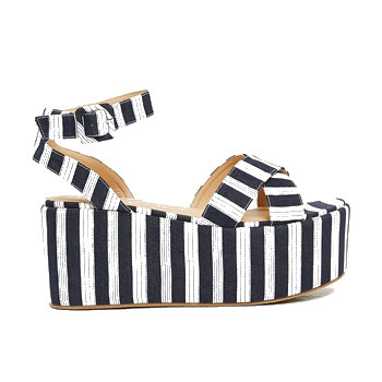 flatform strip spring shoes