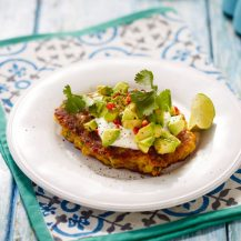 Sweetcorn Fritters With Yogurt, Avocado And Chilli Recipe