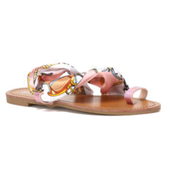 chiffon ribbon sandals