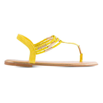 yellow spring sandal