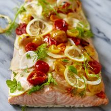 Oven Roasted Salmon With Fennel And Tomatoes Recipe