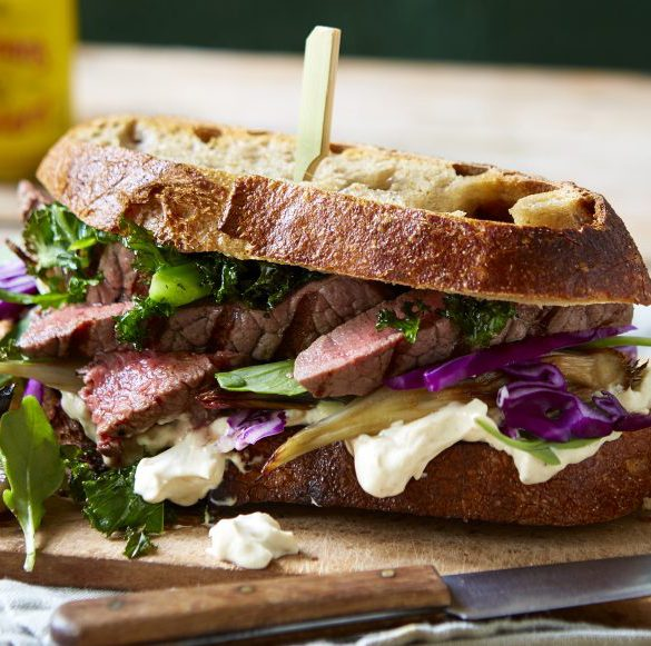 steak sandwich with super greens recipe