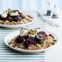 Bulgar-Wheat Pilaf With Goats' Cheese, Beetroot And Nuts Recipe