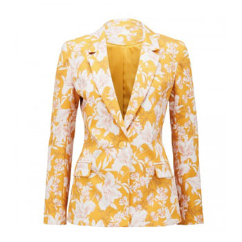 Floral yellow and white donatella stylish blazer