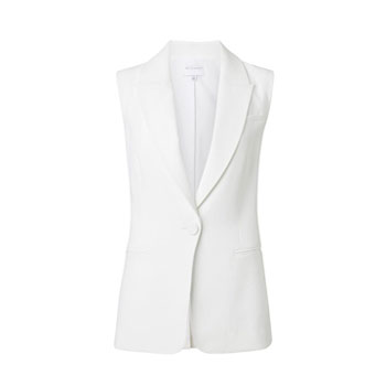 White Sleeveless Blazer