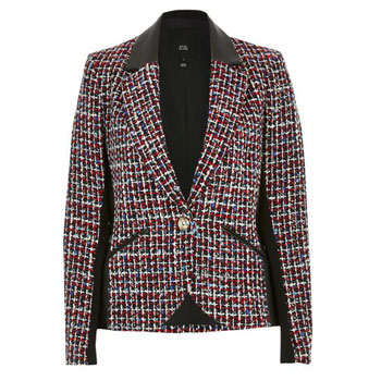 red ad black Tweed Blazer