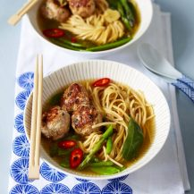 Healthy Meatballs In An Asian Noodle Broth Recipe