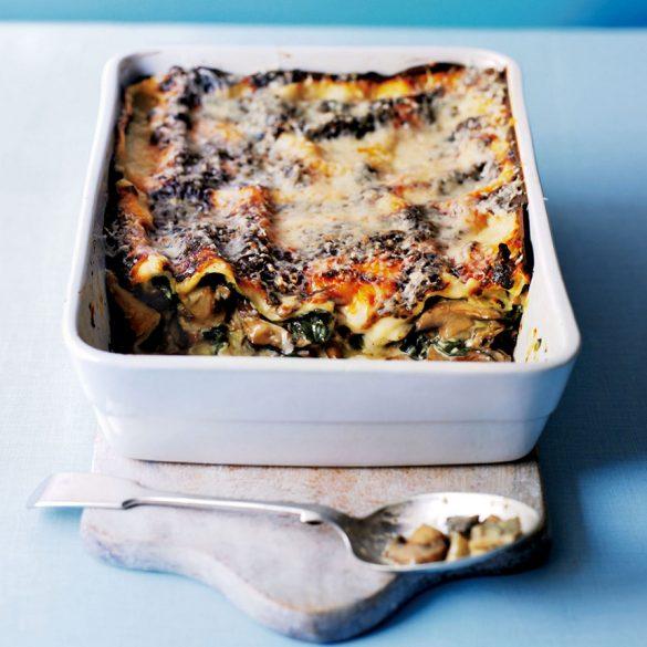 Wild mushroom and spinach lasagne recipe